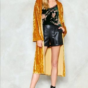 Nasty Gal Velvet Kimono